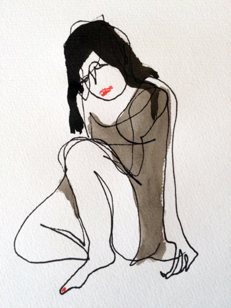 C._2015, Stift und Tusche auf Papier, 20x15 cm
