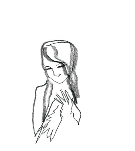 bisschen fest_2016, Zeichnung auf Papier, 29,5 x 33 cm
