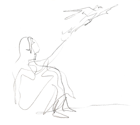 die entscheidung_2016, Zeichnung auf Papier, 33 x 29,5 cm