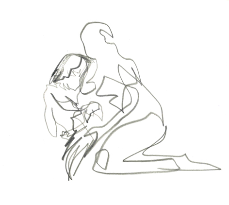erste hilfe_2016, Zeichnung auf Papier, 33 x 29,5 cm