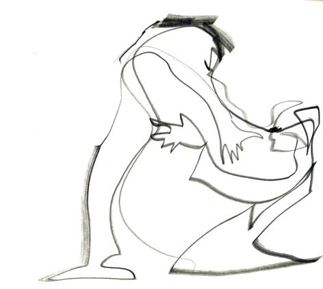 eine kleine meinungsverschiedenheit_2016, Zeichnung auf Papier, 33 x 29,5 cm