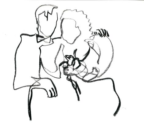 einverstaendnis (beidseitig)_2016, Zeichnung auf Papier, 33 x 29,5 cm
