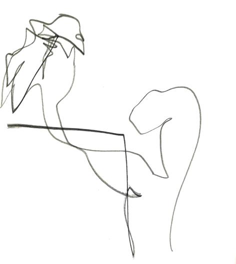 hab ich dich!_2016, Zeichnung auf Papier, 29,5 x 33 cm