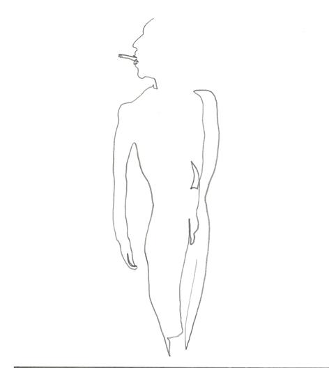 verwechslung_2016, Zeichnung auf Papier, 29,5 x 33 cm